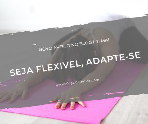 Seja flexível, adapte-se. Yoga com Marta e Hugo - www.YogaCoimbra.com